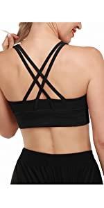 Damen Strappy Criss-Cross Sport Yoga BHs