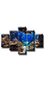 fishing seascape sport underwater world undersea shark fish dolphin turtle coral reef sea ocean
