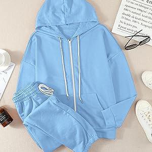 sweatsuits womens zip up workout tracksuits