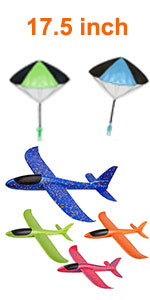 17.5 amp;#39;amp;#39;  airplane toys with 2 parachutes