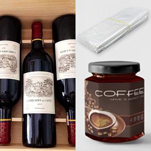 Red wine coffee packaging bag