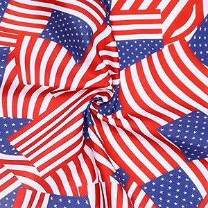 2 Pack American Flag Dog Bandana -3