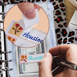 refillable  cash envelope system EXPENSE TRACKER budget sheet