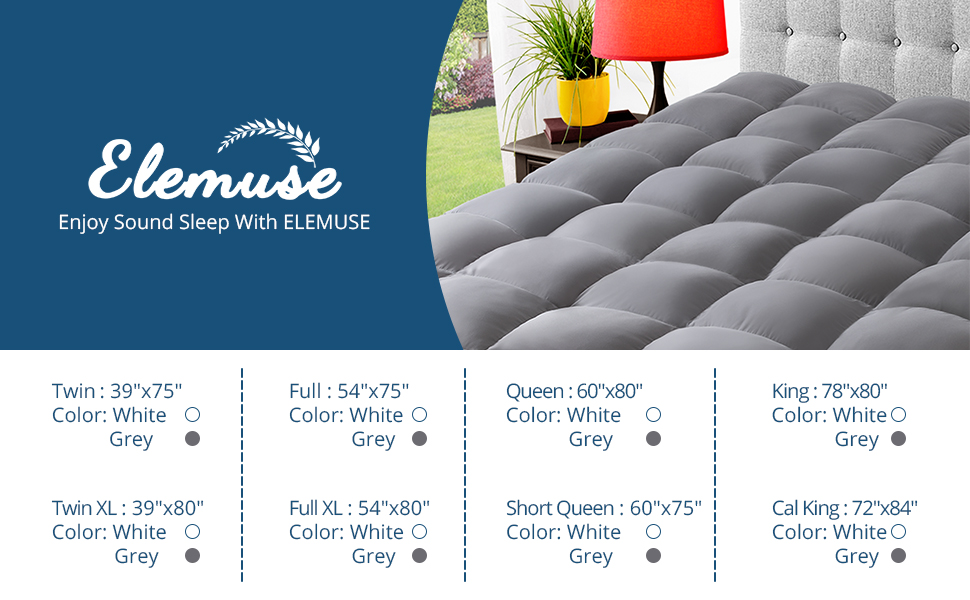 ELEMUSE cooling mattress topper for back pain