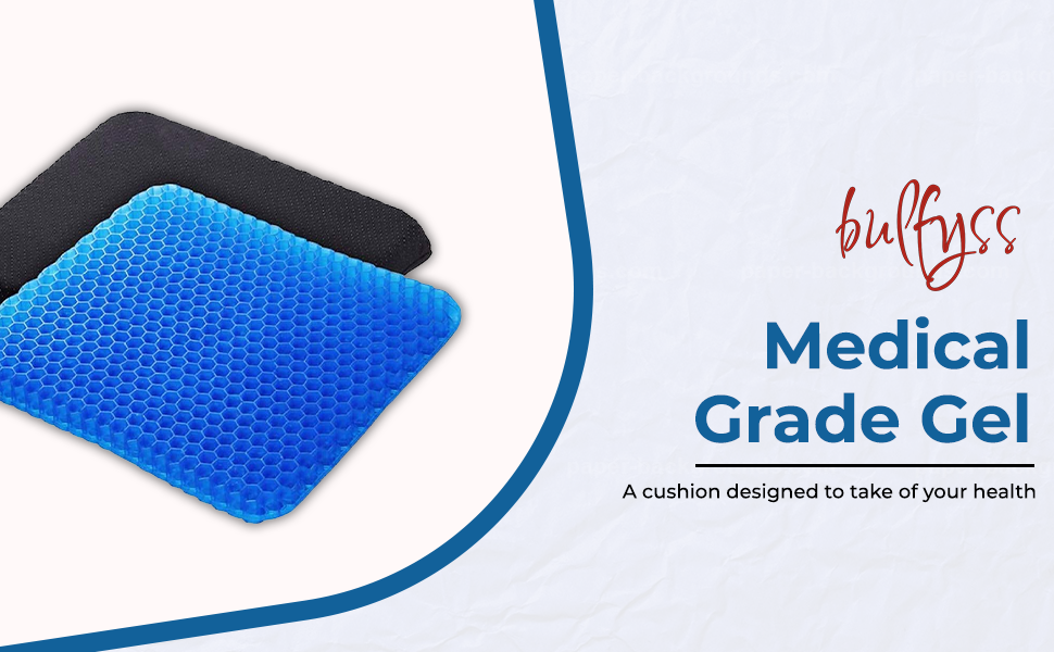 Bulfyss Medical Grade Gel Double-Sided Honeycomb Design Breathable, Durable, Portable  SPN-FOR1
