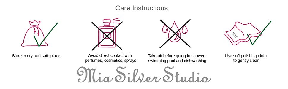 Jewelry Care Instructions: How to clean silver jewelry
