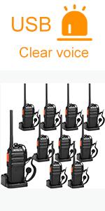 Retevis H-777S walkie talkie with earpiece 10 pack