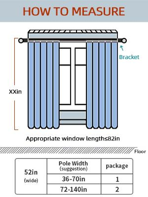 How to easure the Blackout windows curtains size