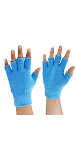 gel moisturizing half gloves
