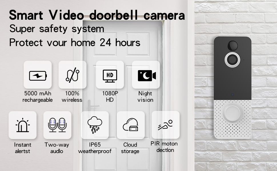 doorbell outdoor door bell  wireless with camera eufy front   bell  security system simply safe