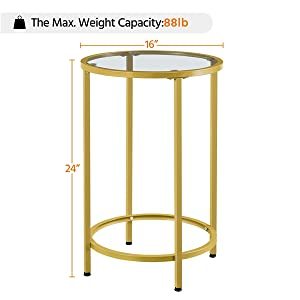 Specifications of Round End Table