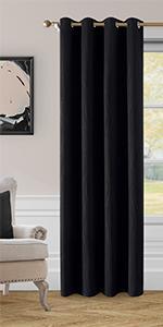 Homeideas Embossed Grommet Blackout Curtains