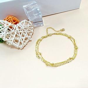 Anklets Bracelet for Women Cute Delicate Handmade Stainless Steel