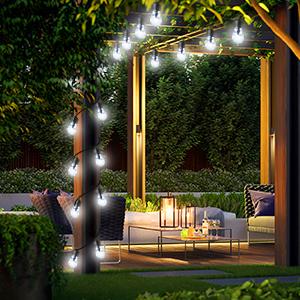 Solar Outdoor String Lights 50 LED Solar Bulb Crystal Bubble Ball Light