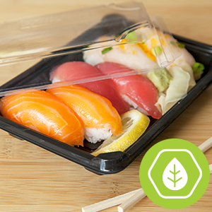 Eco-Products Sushi Tray, Deli Container
