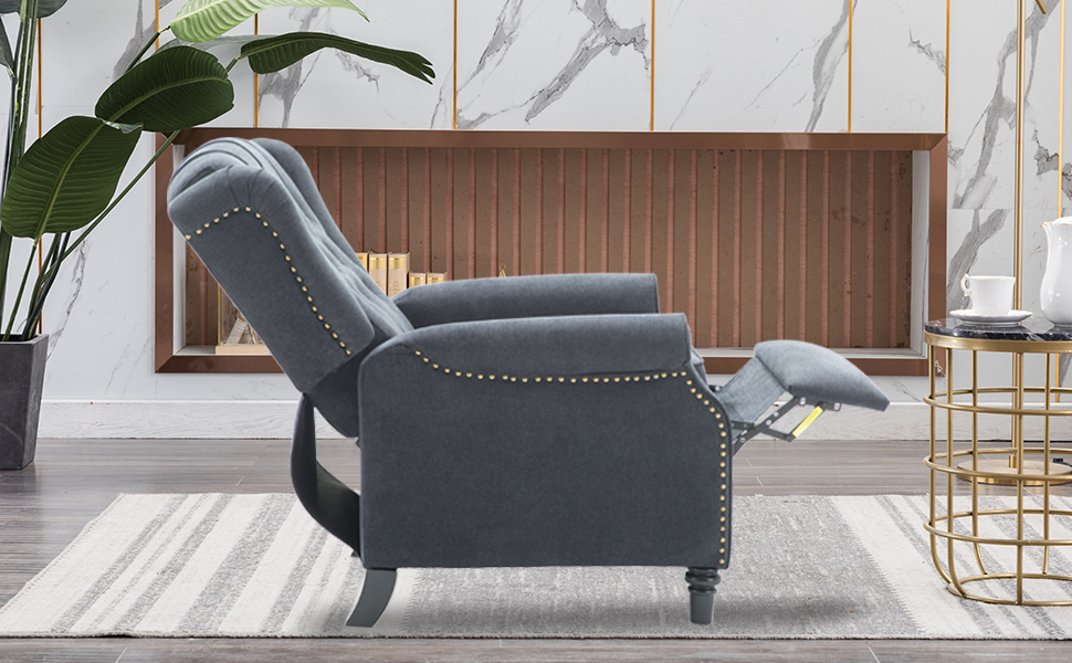 CANMOV Elizabeth Fabric Arm Chair Recliner with Tufted Back