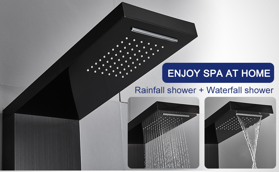 RAINFALL WATERFALL SHOWER PANEL SYSTEM