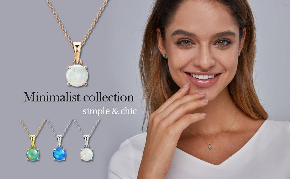 opal pendant necklace for women