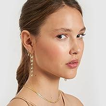dangle earrings 18k