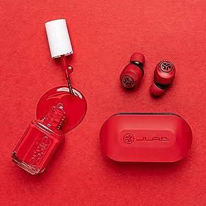 Jlab go air true wireless red