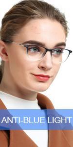 OCCI CHIARI Blue Light Reading Glasses Larger Reader(100 150 200 250 300 350 400)