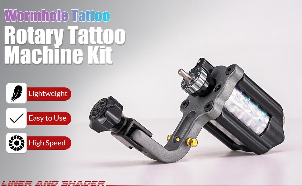 Wormhole Tattoo Rotary Tattoo Machine Kit—TK128