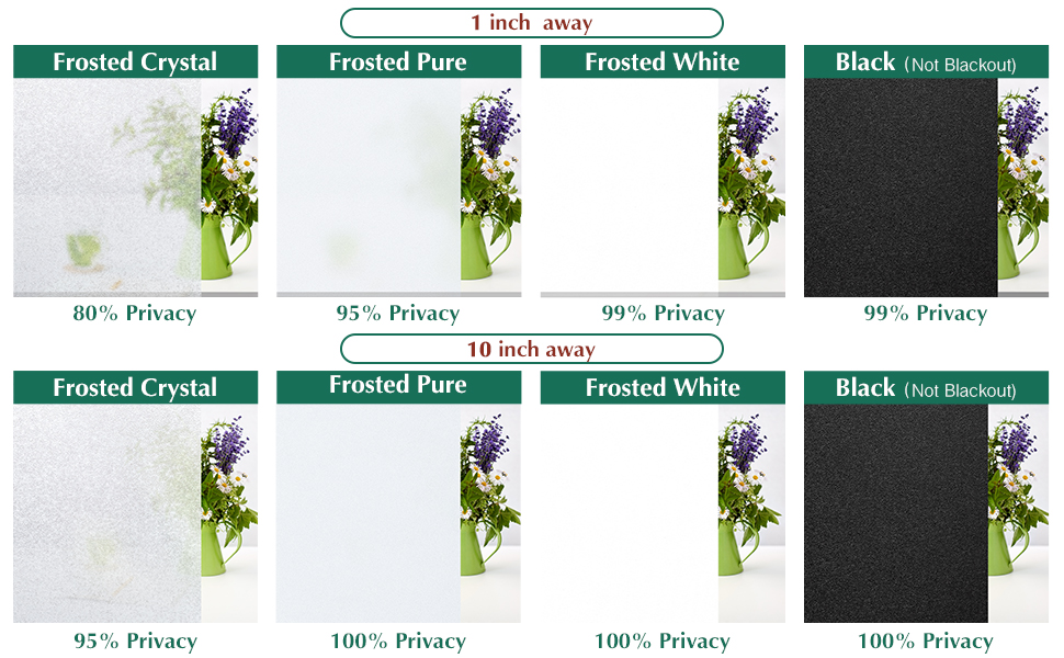 Total Blackout Window Film Crystal Heat Control Anti UV Window Tint Privacy Window Film