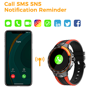 smart watch with call and app notification