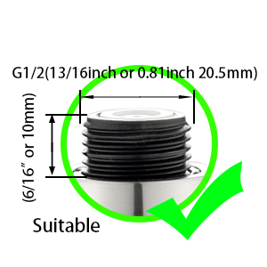 Suitable for G1/2 connector