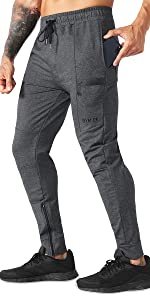 Mens Sidelock Gym Joggers Pants,Casual Workout Running Slim fit Tapered Track Pants with Pockets