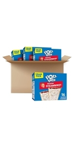 Pop-Tarts Toaster Pastries, Frosted Strawberry, (64 Toaster Pastries)