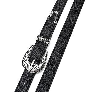 Black belt, Western Belt, buckle belt