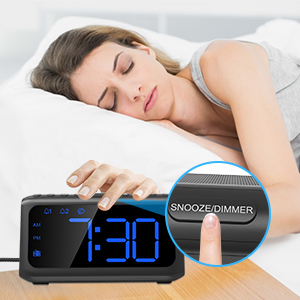 alarm clock with usb charger