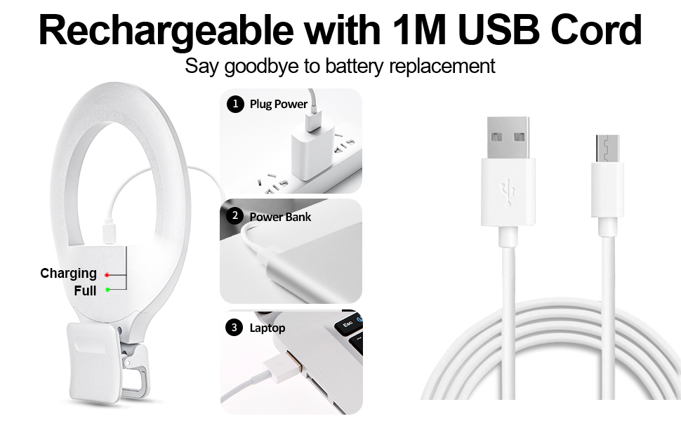 USB Rechargeable Ring Light
