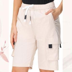 women's elastic waist cargo shorts womens cargo shorts elastic waist womens dress bermuda shorts