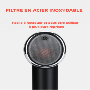 oBiun Air Duster Filtre en Acier Inoxidable