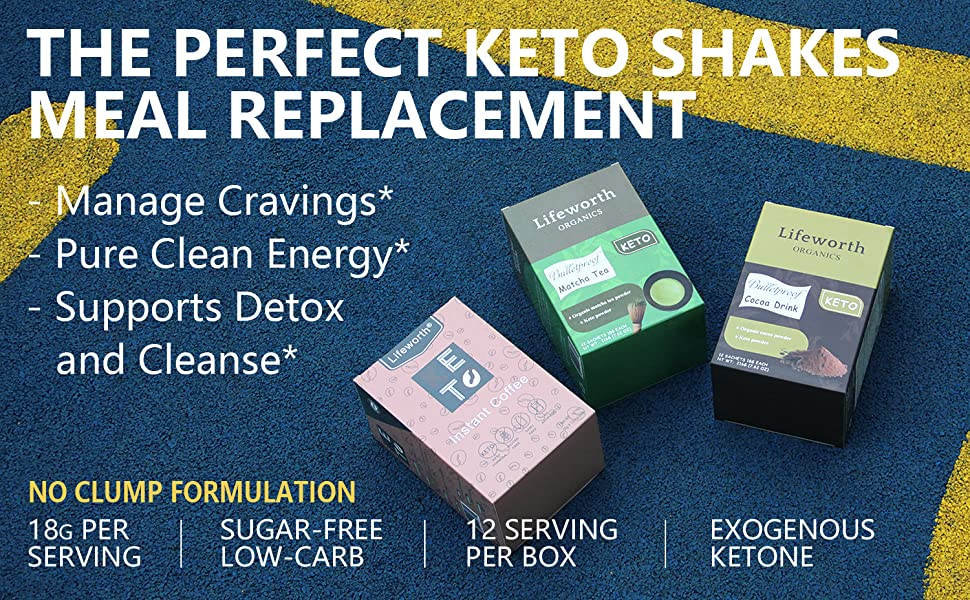 Perfect Keto Shakes,Manage Cravings,Pure Clean Energy,Supports Detox and Cleanse,Sugar-free low-carb
