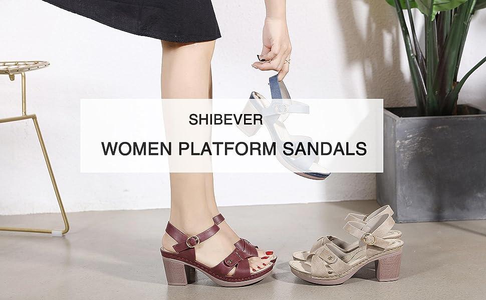 women block heel sandals