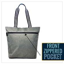 front zippered pocket