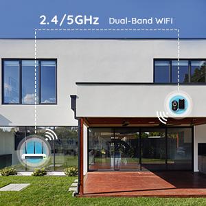 Argus 3 Pro avec Panneau Solaire Caméra IP Solaire WiFi 2,4/5 GHz