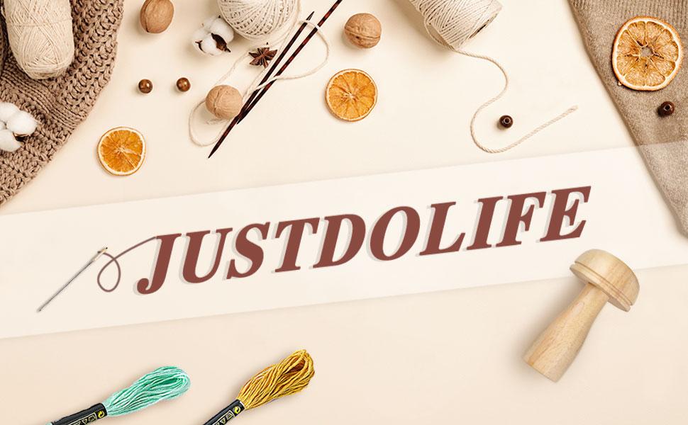 The sewing kit of JUSTDOLIFE sock darning mushroom darning repair kit darning mushroom set