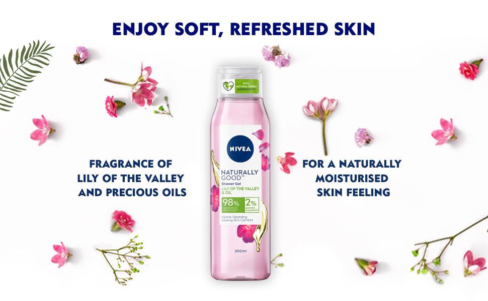 NIVEA,Women, Shower Gel,Body Wash, Natural Ingredients,Nourishment,