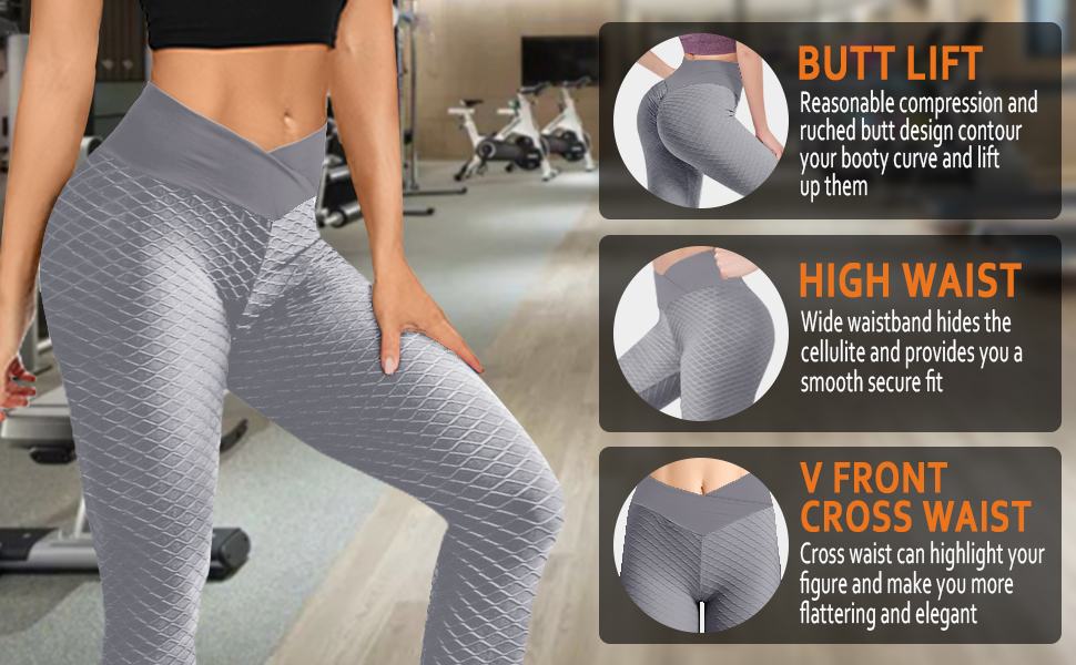 anti cellulite cross waist tights