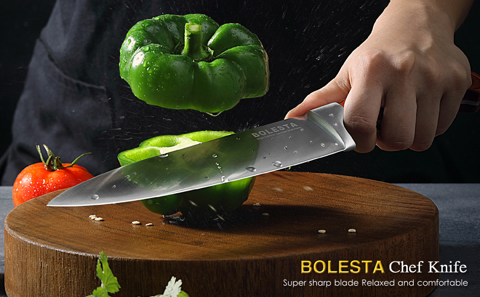chef knife 8 inch professional chef's knife german stainless steel utility multipurpose kinves