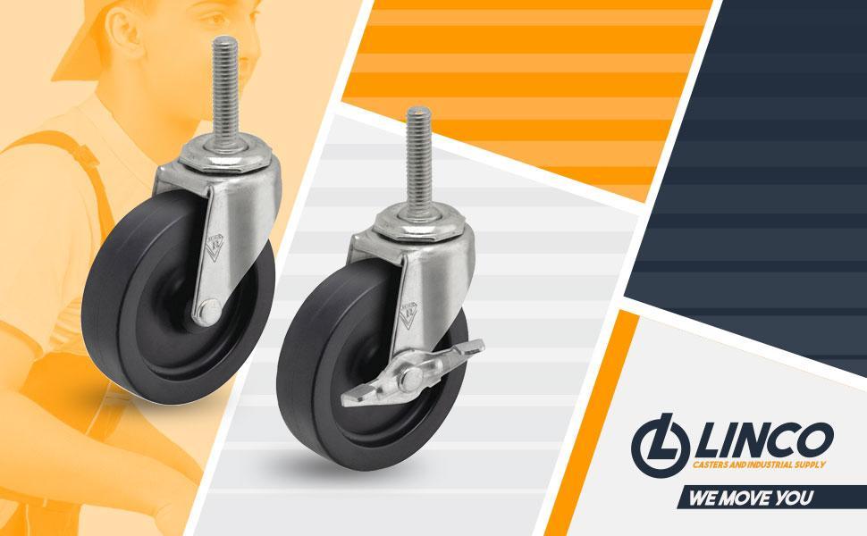 4 inch Steel Wire Shelving Wheels Casters