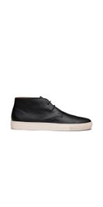 Theo Black Leather Chukka Sneaker