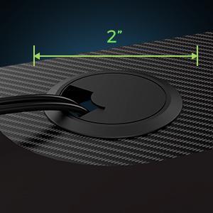 wire management 3 grommet 2 inch diameter
