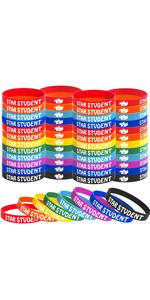 48PCS Star Student wristband