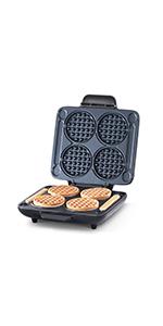 mini waffle maker, mini waffles, multi mini waffles, 4 mini waffles