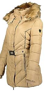parka de mujer con capucha abrigo de invierno chaqueta de piel forro de poliéster calidad